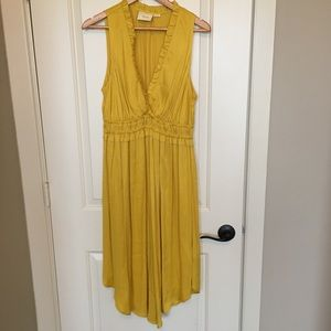 Anthropologie Maeve La Habana dress yellow sz M